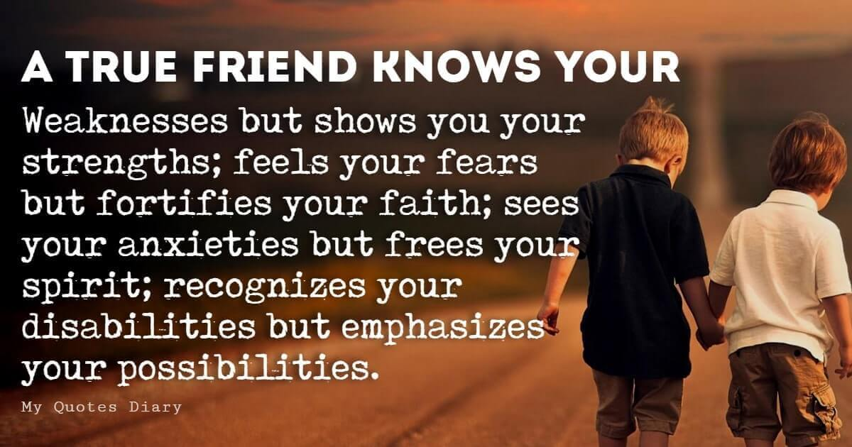 Inspirational Quotes About Friendship with Images