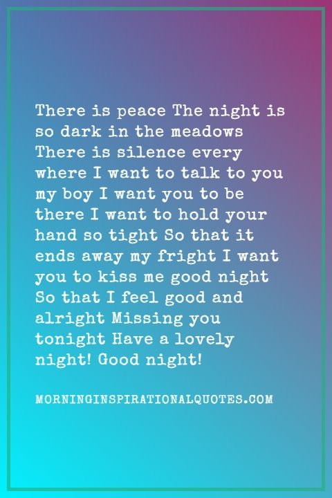 Good Night Poems for Him