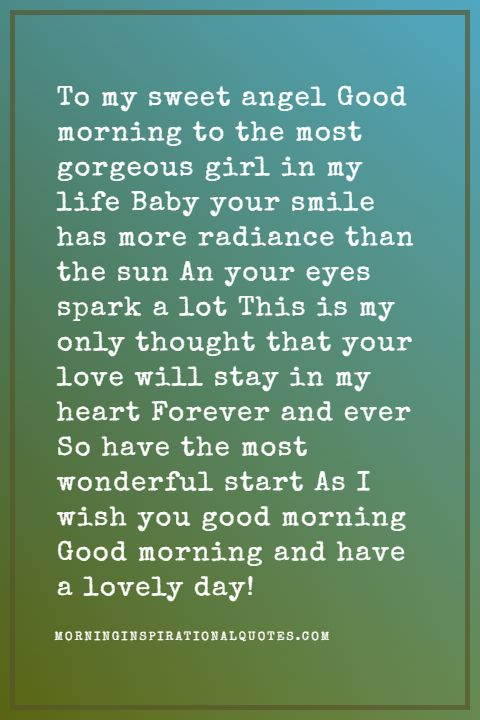sweet good morning poems for her