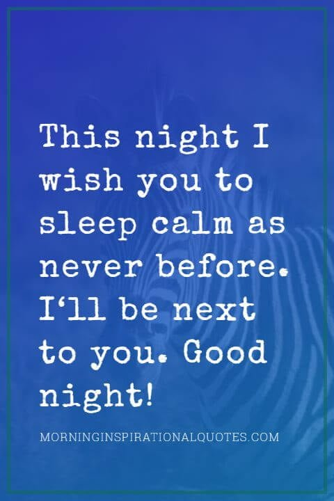 good night messages to him
