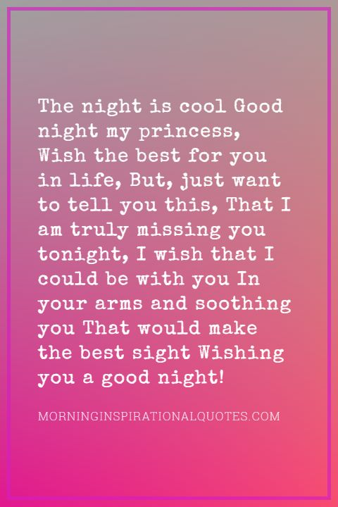 Good Night Poems for Her