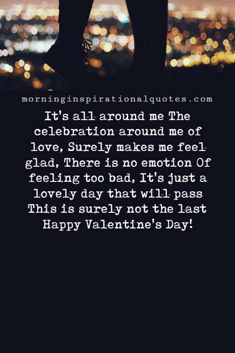 Valentines Day Poems About Being Alone , Being Alone Poems