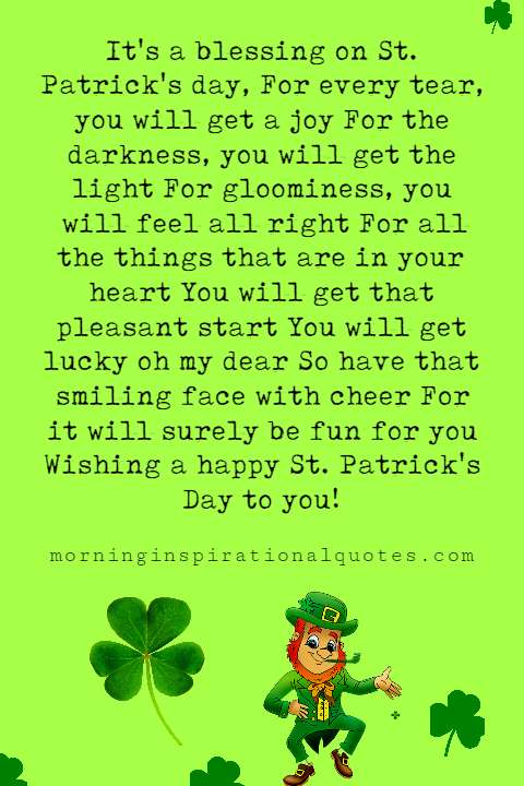 st Patrick's day poems