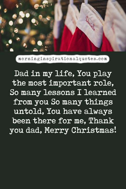 christmas wishes for dad