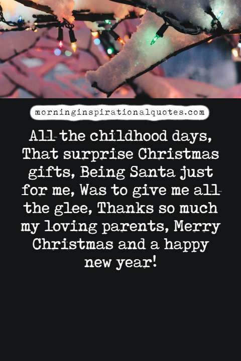christmas wishes for parents