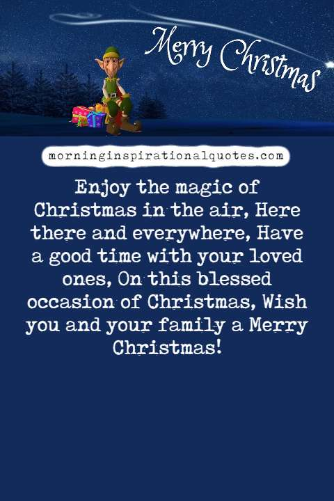 christmas wishes for family