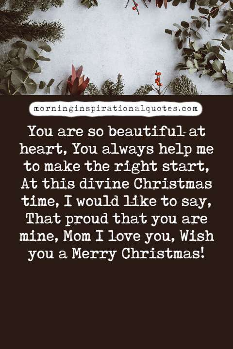 christmas wishes for mom