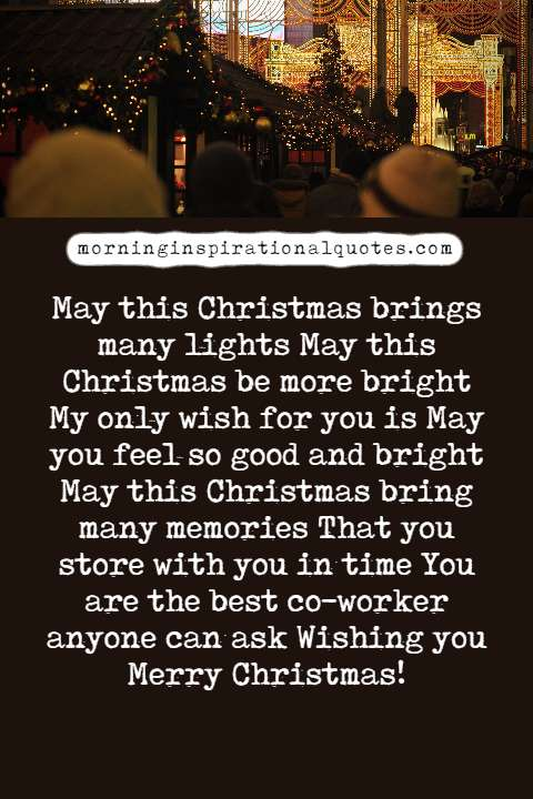 christmas love wishes for coworkers