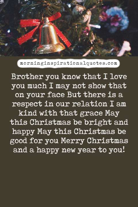 christmas wishes for brother
