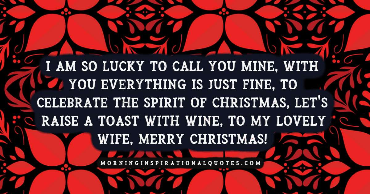 christmas wishes for wife