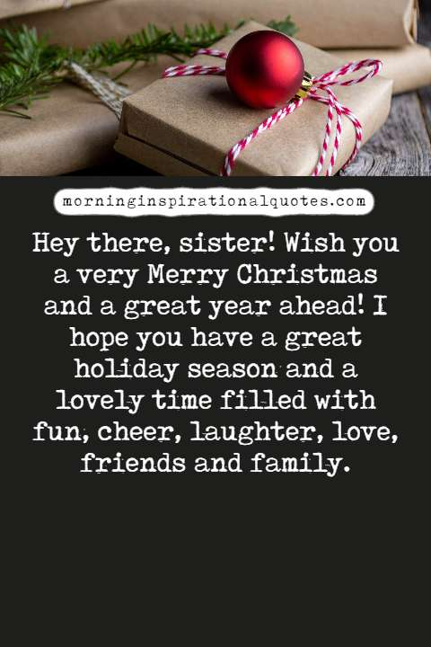 christmas wishes for sister