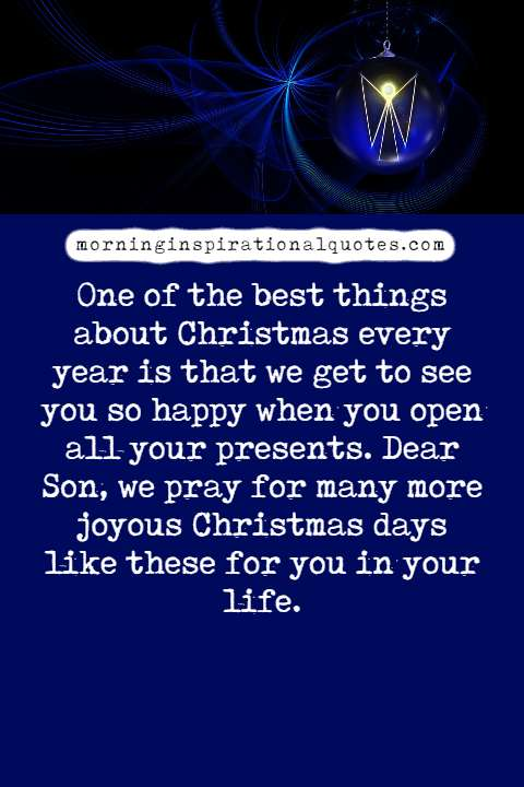 christmas wishes for son