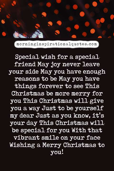christmas poems for friends