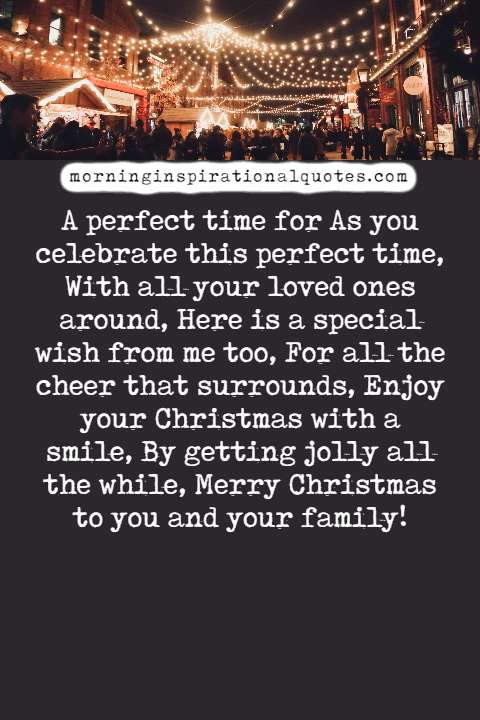 christmas poems for family